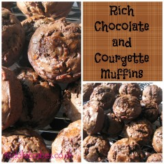 Rich Chocolate and Courgette Muffins