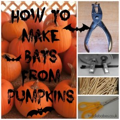 How to make Bats out of pumpkins