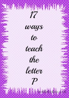learning to read, letter p,