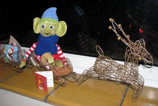 lef on the shelf, christmas elf, sleigh