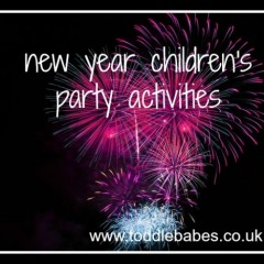 Celebration Ideas for New Year Children's activities