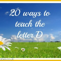 20 Ways to teach the letter D