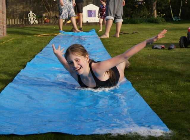 summer , water , slip and slide, toddlebabes