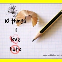 10 things I Love, 10 things I Hate