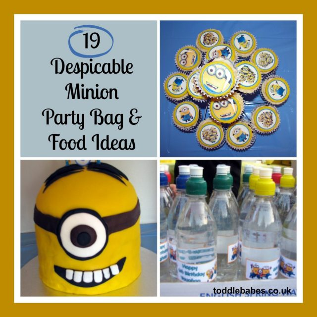 Minion Party bags and food ideas, despicable me party, minion party, party food, party favors,