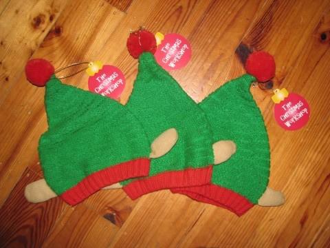 elf dress up, elf hats