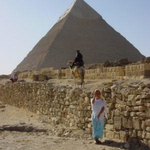 Carla with second pyramid
