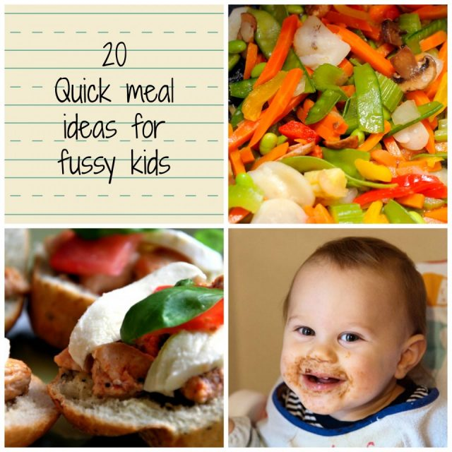 quick meals, fussy kids